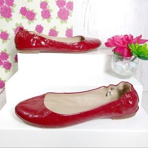Mossimo Supply Co. red glossy ballet flats